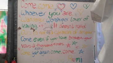 A message from Rumi in the Calais 'jungle'